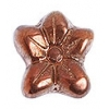 Glass Bead Flower 12x14mm Copper Gold Metal Effect Strung